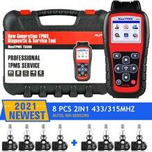 Autel tpms ts508 tpms ferramenta, ts508k obd2 scanner mx sensor 315 433mhz reparação de pneus tpms reaprender programação programador
