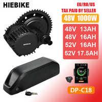 48v 1000w Bafang Motor BBSHD BBS03B Elektrische Fahrrad Conversion Kit mit Batterie 48V 13/16AH 52v 16/17. 5ah Ebike Mitte Antrieb Motor
