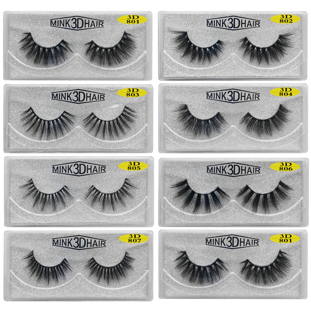 Wholesale Eyelashes 20/30/50/100 Pairs 3D Mink Lashes Natural False Eyelashes Hand Made Makeup Eye Lashes 3D Mink Eyelashes Bulk 3
