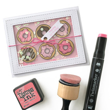 JCarter Rubber Stamps for Scrapbooking Sweetie Donut Cake Clear Stamp Silicone Seals Craft Stencil Album Card Make Decor Sheet