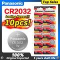 10 шт. Новая батарея PANASONIC cr2032 3 в кнопочные батареи для монет для часов компьютера cr 2032 ECR2032 для игрушек часов