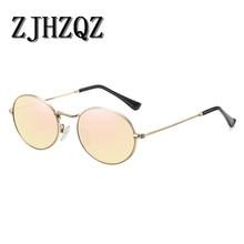 Mens Metal Oval Aluminum Polarized Sunglasses Womens Classic Retro Vintage Steampunk Couple sunglasses Sport Pilot Oculos de sol