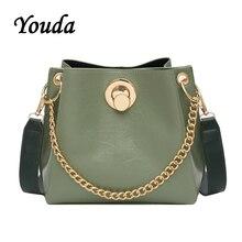 Youda 2019 New Fashion Original Retro Female Shoulder Bag Sweet Chain Strap Bucket Packet Simple Large Capacity Messenger Tote
