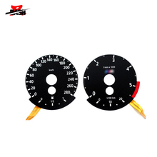 DASH Brand New EL glow gauge for E92 335d Diesel 280km 5500 RPM Black Panel Reverse White Light