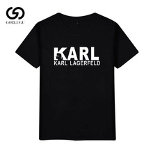 2019 Karl Lagerfeld T shirt women Unisex summer Vogue Short Sleeve Funny Shirts Harajuku Tumblr Who Tshirt femme