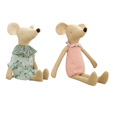 Plush-Toys Mouse Family for Girls Cute Baby Dolls Boy The Mini Stuffed