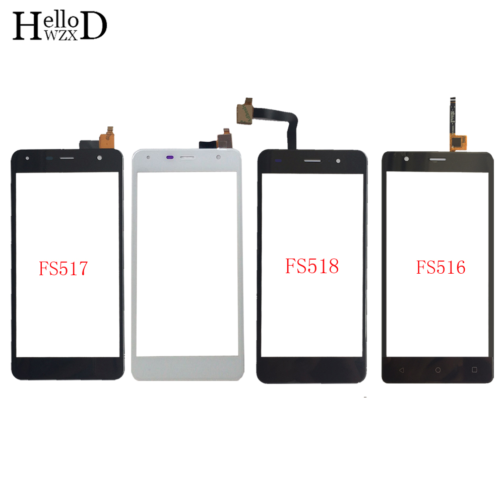 Touch Screen Panel For FLY FS516 FS517 FS518 Touchscreen Digitizer Panel Front Glass Touch Screen Repair Parts 3M Glue Wipes