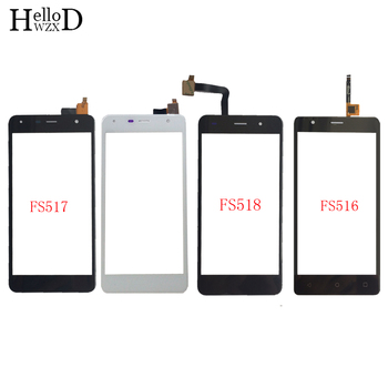 Touch Screen Panel For FLY FS516 FS517 FS518 Touchscreen Digitizer Panel Front Glass Touch Screen Repair Parts 3M Glue Wipes new touch screen glass panel for nt620c st141 e nt620c st141 ek nt620c st142 repair