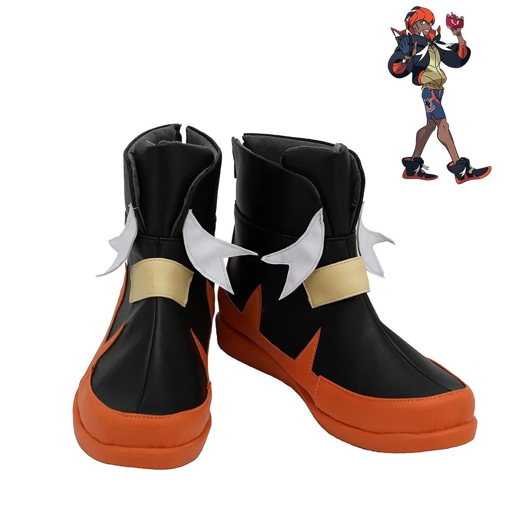 Pokemon Sword /& Shield Leon Shoes Cosplay Men Boots