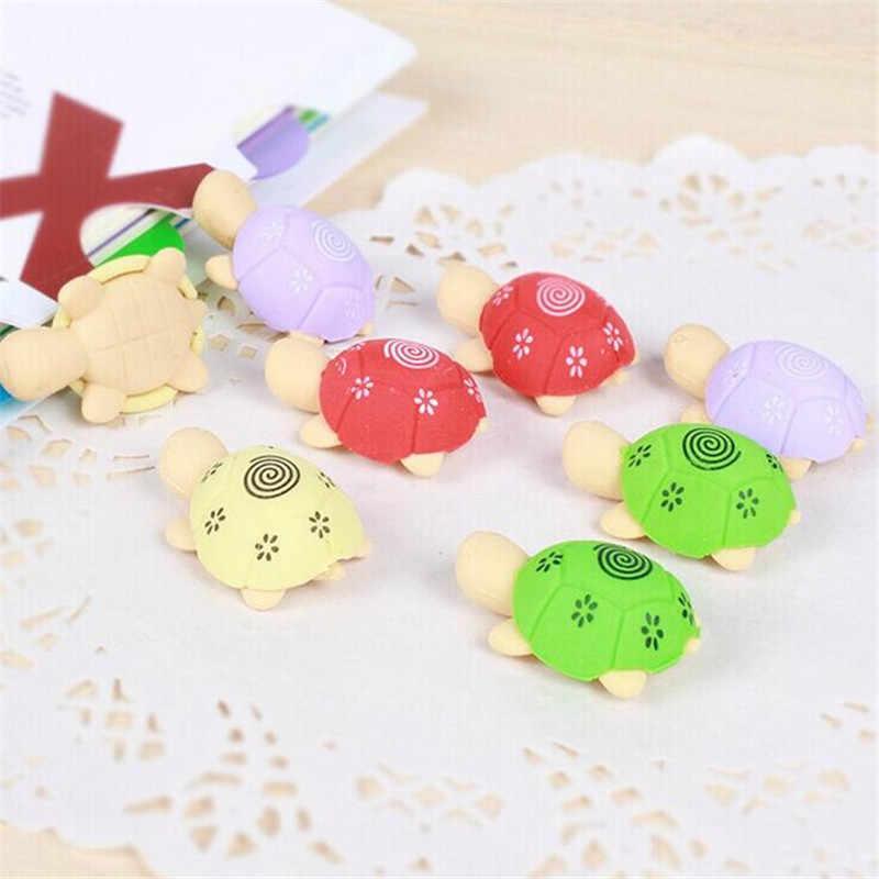 4 шт. мультяшная Милая красочная форма черепахи экологический ластик канцелярские принадлежности Детские Канцелярские принадлежности Подарочная поставка