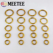 4pcs Metal Spring O D Ring Openable Ancient Gold Round Carabiner Snap Clip Clasp Dog Chain Keyring DIY Bag Parts Accessories