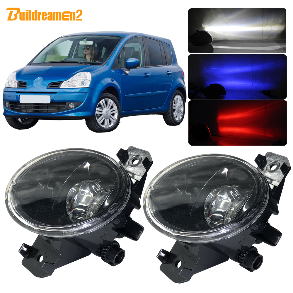 Buildreamen2 2 X Car Accessories H11 <font><b>LED</b></font> Lens Fog Light With Devil Eye DRL Function 4000LM 12V For <font><b>Renault</b></font> Grand <font><b>Modus</b></font> 2004-2013 image