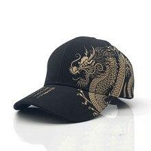 Unisex Berretto da Baseball Nero Regolabile Protezione di Stile Cinese Drago Stampa Casual Snapback del Cappello di Hip Hop
