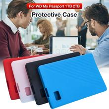 For WD My Passport 1TB 2TB 500GB G-Drive Hard Drive Case Silicone Sleeve Protective Sleeve Anti-scratch Portable Protector Cover