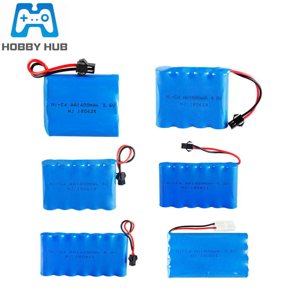 3.6V 4.8V 6V 7.2V 8.4v 9.6V <font><b>12v</b></font> 1400mAh NiCD <font><b>battery</b></font> For RC Toy Cars Trucks Tank Guns Spare Parts <font><b>AA</b></font> Ni-CD <font><b>Battery</b></font> <font><b>pack</b></font> image
