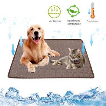 Chłodzenie lato Pad Mat dla psa kot koc Sofa mata dla psa oddychające zmywalne legowisko dla psa lato dla małych średnich duże psy samochód tanie i dobre opinie TAONMEISU Other Pet Dog Cooling Mat Łóżko koce 230g