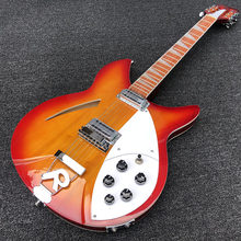 High quality 12 String Electric Guitar, Ricken 360 Electric Guitar,Cherry red Burst body,Rosewood fingerboard,free shipping(China)