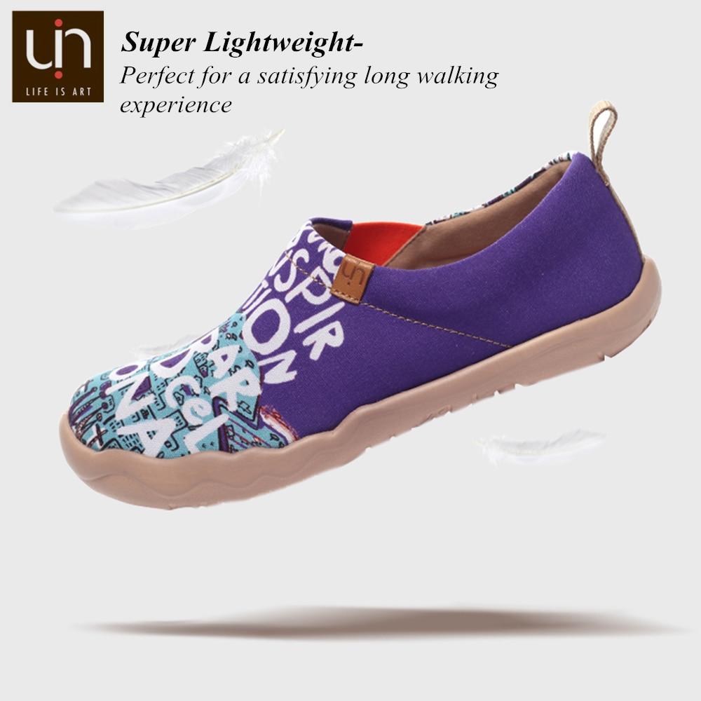 Ayakk.'ten Erkek Rahat Ayakkabılar'de UIN ilham üzerinde Barcelona tasarım erkekler boyalı kanvas ayakkabılar seyahat Loafer nefes geniş ayak rahat konfor ayakkabı hafif'da  Grup 3