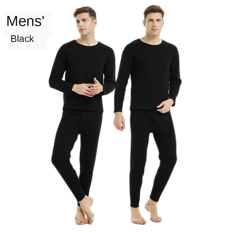 2020 Winter New Heavy Gold Armor Thermal Underwear Suit Men's Skin-friendly Super Soft Plus Velvet Thick Cold Warm Clothing