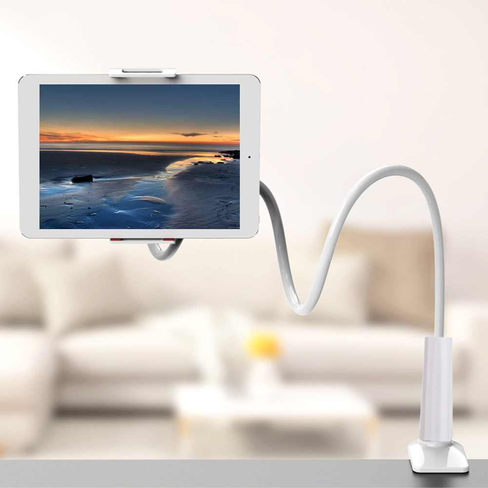 Universal Gooseneck Stand Mobile Phone Holder Holder Flexible Arm Bracket Lazy Stents Flexible Bed Desk Desk Clip Phone|Tablet Stands| |  - title=