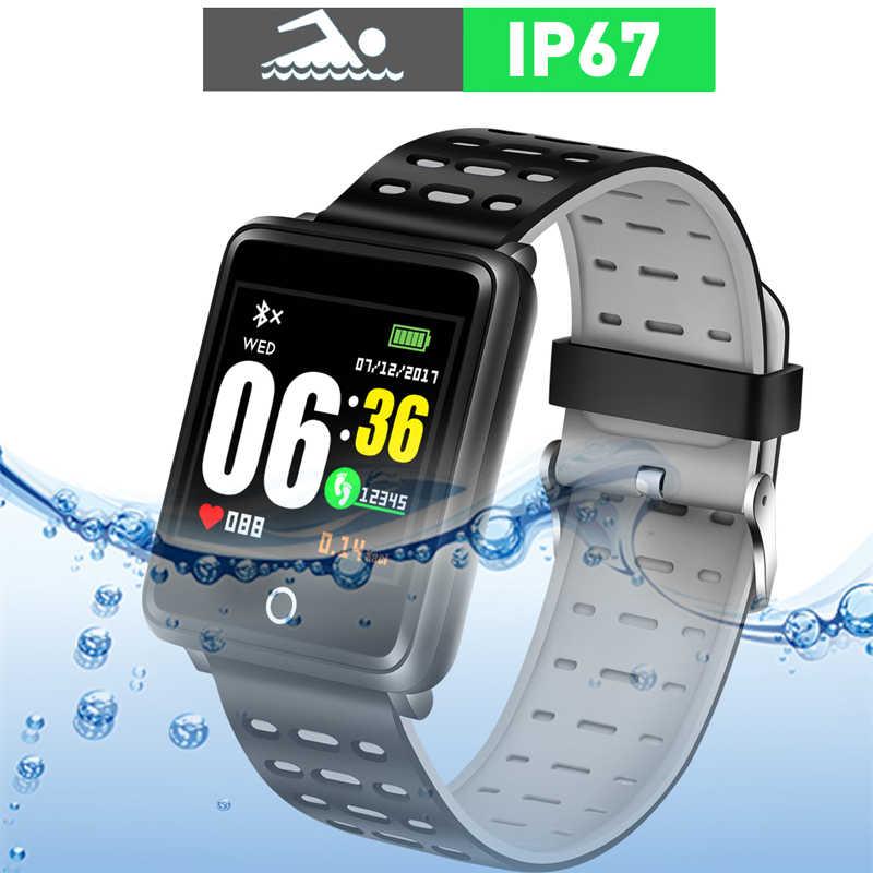 Novo 2019 novas mulheres dos homens esporte inteligente relógio de fitness rastreador pedômetro pressão arterial freqüência cardíaca oxy sangue monitor banda inteligente + caixa