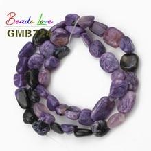 цена 8-10mm Irregular Genuine Charoite Loose Beads For Jewelry Making Natural Stone Beads Diy Bracelet Necklace Wholesale 15 inch онлайн в 2017 году