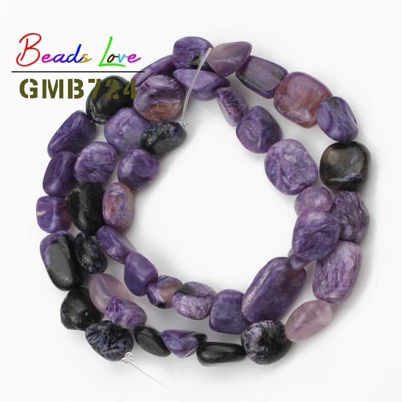 Genuine charoite beads Healing stone beads Loose beads Half strand Charoite rondelle beads