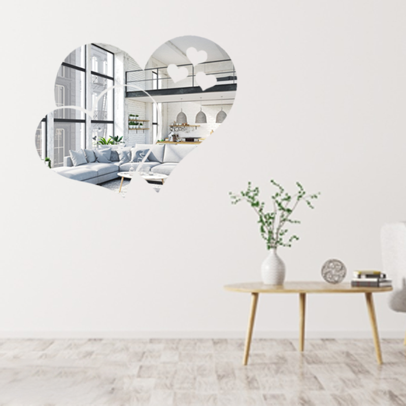 3d Acrylic Love Heart Mirror Sticker Creative Diy Heart Shape Mirror Wall Sticker Living Room Bedroom Mirrors Decorations Decorative Mirrors Aliexpress