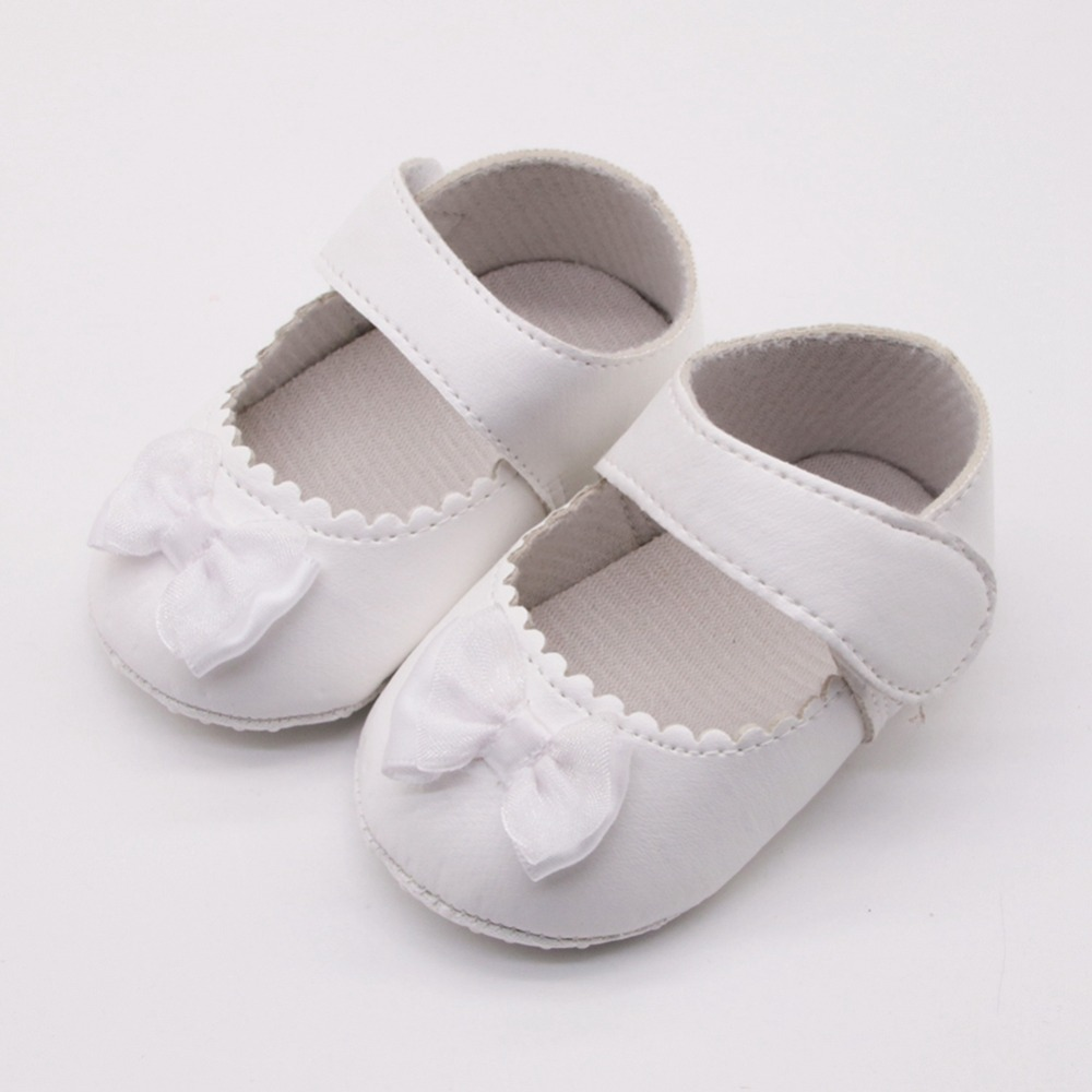 Ins Baby Girls Shoes Toddler Infant Spring Soft Sole Non-Slip PU Princess Casual Shoes With Bowknot 0-18M
