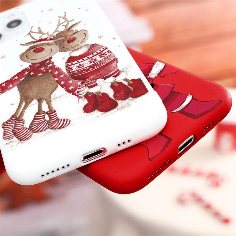 New Christmas Deer Santa Claus Phone Case For iPhone 12 Mini