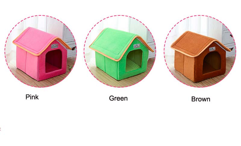 Pet House Foldable Bed With Mat Soft Winter Leopard Dog Puppy Sofa Cushion House Kennel Nest Dog Cat Bed For Small Medium Dogs 3