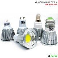 Foco de luz Led para decoración del hogar, lámpara MR16 GU10 E14 E27, GU5.3 COB SMD 15W 12W 9W 220V 110V, ahorro de energía