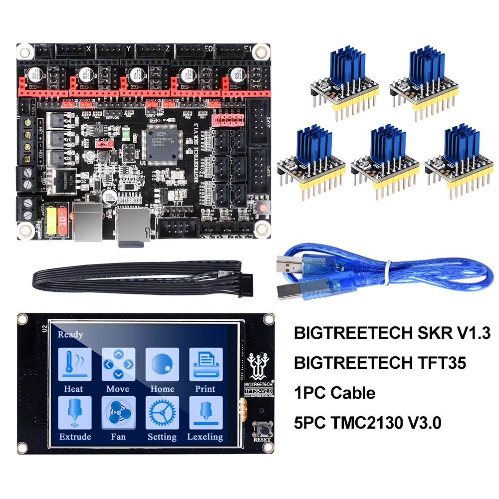 BIGTREETECH SKR V1.3 carte lisse 32Bit + TFT35 V2.0 + BLtouch + TMC2130 spi TMC2208 UART pièces d'imprimante 3D vs MKS GEN L TMC2209