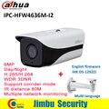 Dahua IP камера IPC-HFW4636M-I2 6MP IR 80m H.265/H.264 IP67 с кронштейном Многоязычная дневная/Ночная WDR 3DNR цилиндрическая камера