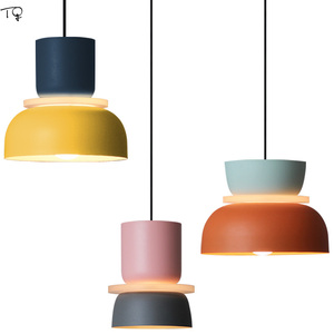 Modern Designer Makaron Orange Pendant Lights LED E27 Iron Art Dining Room Kitchen Suspension Luminaire Living Room Bedroom(China)