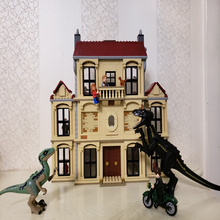 legoing Jurassic World 2 Indoraptor Rampage At Lockwood Estate Building Blocks Bricks Compatible Dinosaur 75930 75932 Toy Model lego jurassic world 75930 нападение индораптора в поместье локвуд