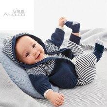 Зимняя одежда для малышей, халаты, комбинезоны, комбинезоны и куртки, комплект из двух предметов, детский утепленный костюм, для новорожденных мальчиков