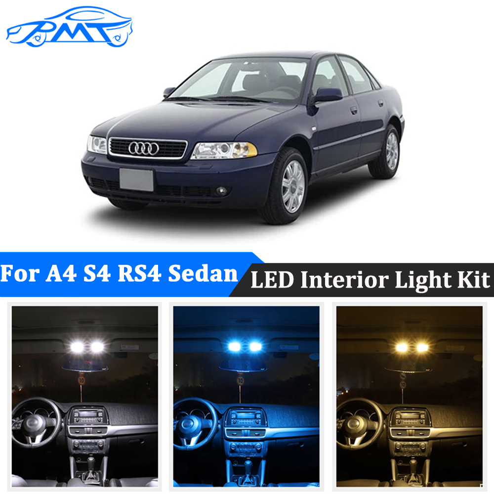 BMT 20Pcs Canbus No Error <font><b>LED</b></font> Car Interior Light Kit For <font><b>Audi</b></font> <font><b>A4</b></font> S4 RS4 <font><b>B5</b></font> 8D Sedan Avant 1996-2001 <font><b>led</b></font> Dome Map Lights Bulbs image