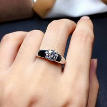 Carats Wedding-Jewelry Diamond-Ring-D Moissanite Gemstone 925-Sterling-Silver Color-Vvs