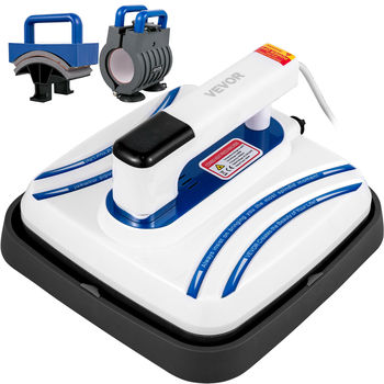 "3 In 1 10""x10"" Heat Press Machine Portable Easy Press Mini for Mug Caps T-Shirts 1"