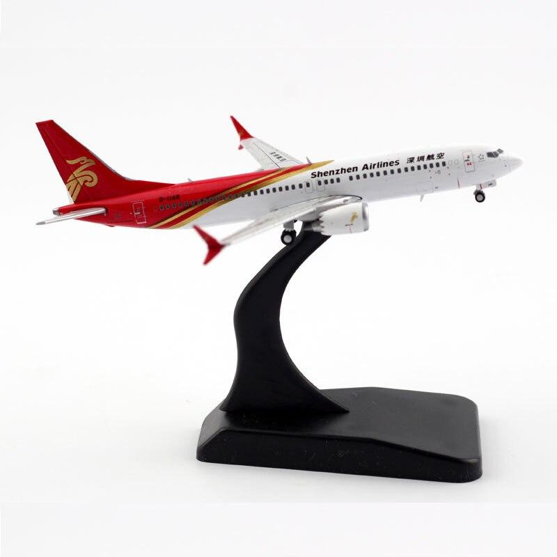 1:400 escala shenzhen airways B737-Max8 companhias aéreas