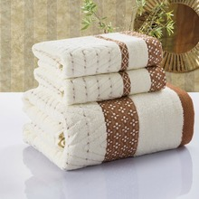 2PCS 100% Cotton Embroidered Towel Sets Towels for Adults Luxury Brand High Quality Soft Face 33x75cm 70x140cm