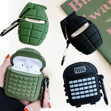 3D Cool Military Bomb Wireless Earphone Case for Apple Airpods 1 2 Backpack Bag Headset Ear