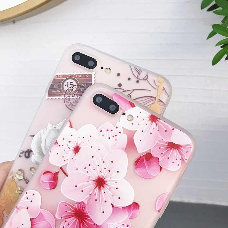 Çiçek Samsung kılıfı Galaxy A10 A20 A30 A50 2019 kapak yumuşak 3D Coque Funda Samsung A 50 30 20 10 s10 A7 2018 kılıf Funda