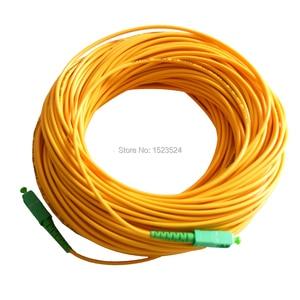 Image 2 - 送料無料 SM SX PVC 3 ミリメートル 50 メートル SC/APC 光ファイバジャンパーケーブル SC/APC SC/ APC 光ファイバパッチコード