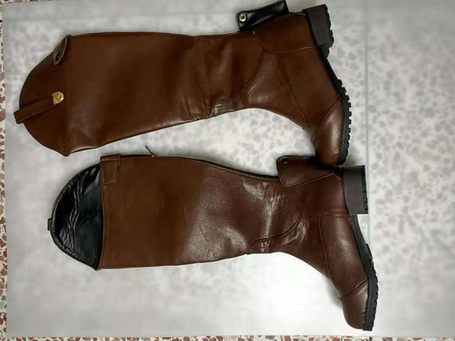 Women's Smooth Leather Horseback Riding Knee High Boots 4