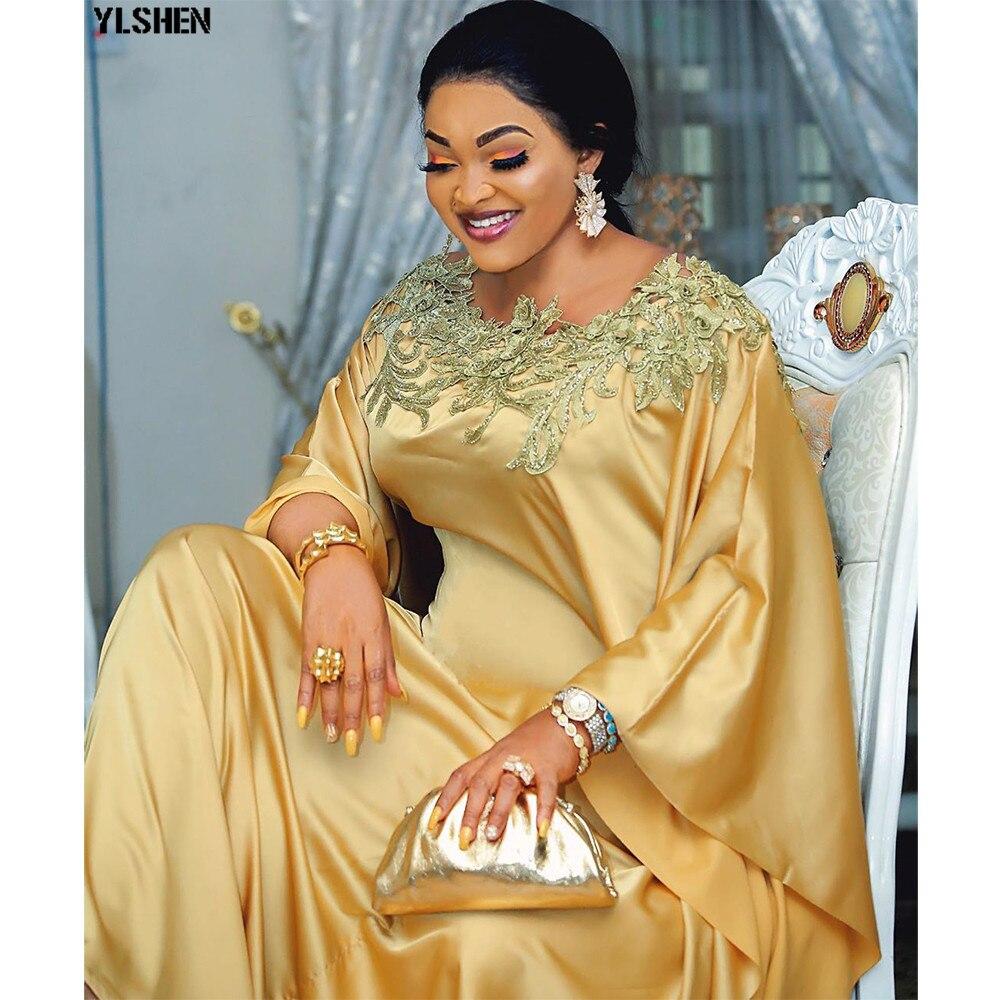 African Dresses For Women Plus Size Traditional Dashiki Diamond Satin Dress African Clothes Abaya Dubai Muslim Dress Africa Robe