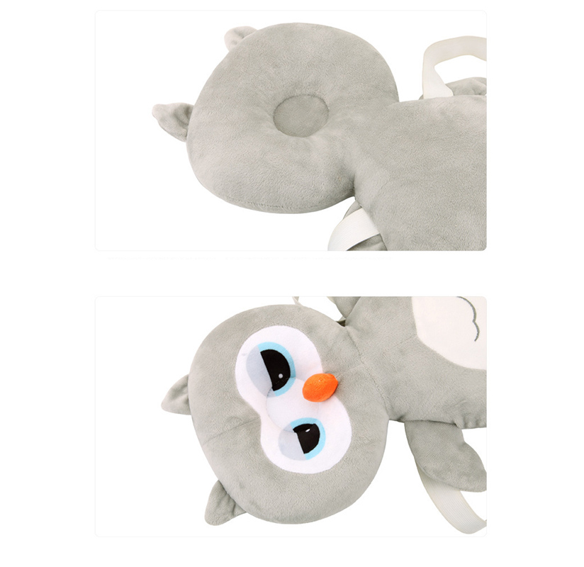 Cabeça de coruja travesseiro bebê anti-queda quebra-resistente