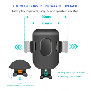 Image 5 - FDGAO araç tutucu Qi kablosuz iphone şarj cihazı 11 Pro XS Max X XR 8 hızlı kablosuz araba şarjı telefon tutucu Samsung S9 S10