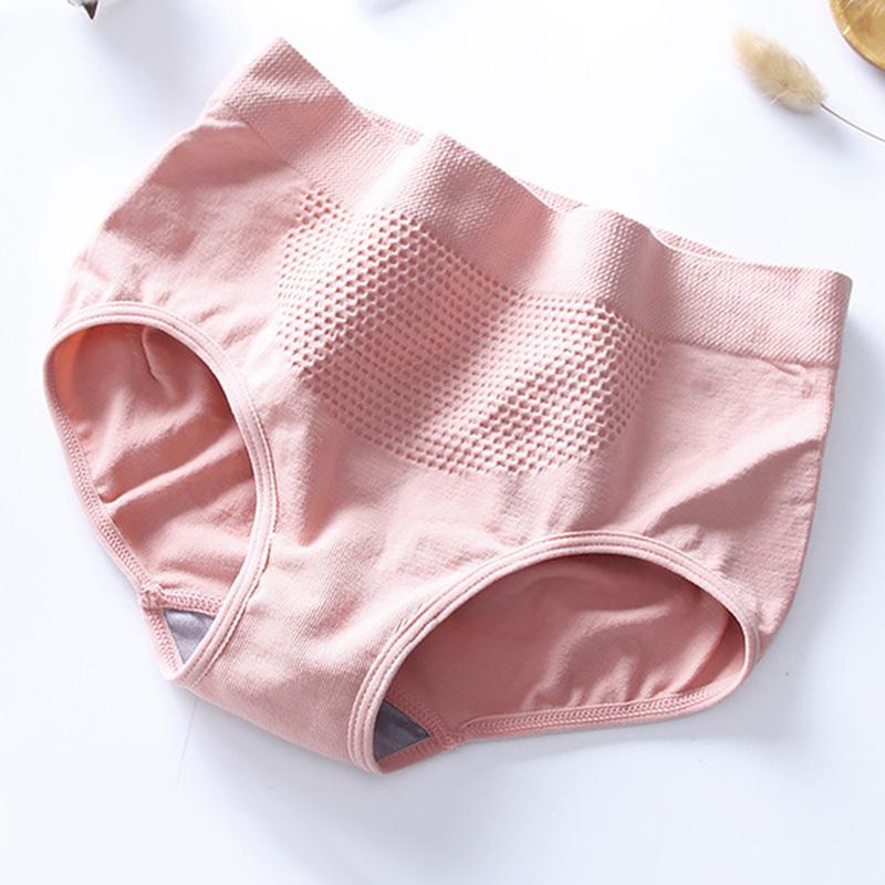 Women Warm Palace Panties Female Lingerie Soft Elastic Honeycomb Briefs Underpant Breathable Cozy Cotton Menstrual Underwear 1